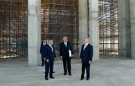"""Chairman of Nakhchivan`s Supreme Assembly views construction of new mosque <span class=""""color_red"""">[PHOTO]</span>"""