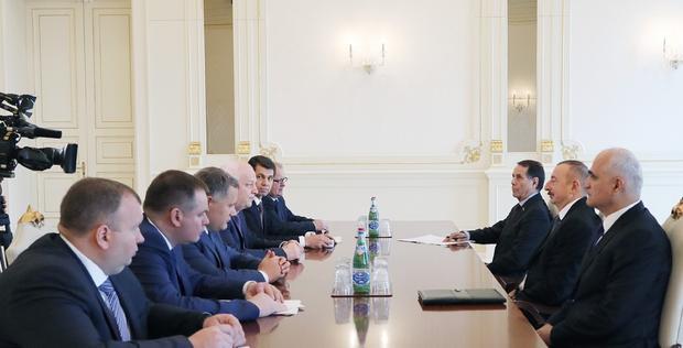 "President Ilham Aliyev receives delegation led by first vice prime minister of Ukraine <span class=""color_red"">[UPDATE]</span>"