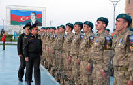 """Azerbaijani peacekeepers return from Afghanistan <span class=""""color_red"""">PHOTO</span>"""