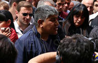 Armenia traders again protest in front of National Assembly