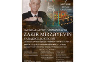 """Don't  miss creative evening of Zakir Mirzoyev <span class=""""color_red"""">[VIDEO]</span>"""