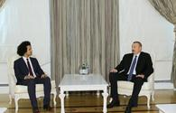 """Ilham Aliyev meets delegation led by head of France-Azerbaijan Friendship Group <span class=""""color_red"""">[PHOTO/UPDATE]</span>"""