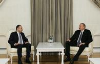 """Azerbaijani president receives Afghan finance minister <span class=""""color_red"""">[UPDATE]</span>"""