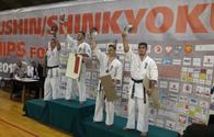 "Azerbaijani karate fighters claim three medals at European championship <span class=""color_red"">[PHOTO]</span>"