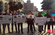 "Azerbaijanis in front of Armenian Embassy in Georgia demand release of hostages <span class=""color_red"">[PHOTO]</span>"