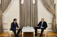 "President Ilham Aliyev receives Uzbek deputy PM <span class=""color_red"">[PHOTO]</span>"