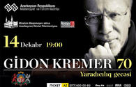 Gidon Kremer to perform in Baku
