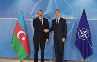 "Ilham Aliyev meets with NATO Sec-Gen in Brussels <span class=""color_red"">[PHOTO]</span>"