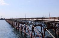 Trestle with length of 630 meters repaired on Oil Rocks