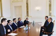 "President Aliyev receives delegation led by Iranian ICT minister <span class=""color_red"">[UPDATE]</span>"