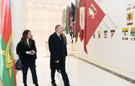 """President Ilham Aliyev, First Lady Mehriban Aliyeva take part in opening of Guba Flag Museum <span class=""""color_red"""">[PHOTO]</span>"""