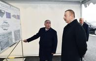 """President Ilham Aliyev takes part in laying of road section on Baku - Russia border <span class=""""color_red"""">[PHOTO]</span>"""