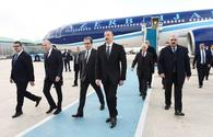 President Ilham Aliyev arrives in Turkey