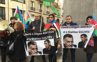 "Azerbaijanis hold protest in front of Armenian Embassy in France <span class=""color_red"">[PHOTO]</span>"