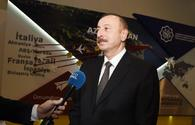 """Ilham Aliyev talks to Euronews about importance of ICT for Azerbaijan <span class=""""color_red"""">[PHOTO]</span>"""