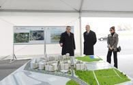 "Ilham Aliyev, his spouse attend groundbreaking ceremony of first building in Hovsan residential complex <span class=""color_red"">[PHOTO]</span>"