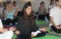 "Heydar Aliyev Foundation VP Leyla Aliyeva attends yoga masterclass <span class=""color_red"">[PHOTO]</span>"