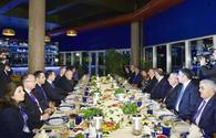 Azerbaijani president, his spouse, Bulgarian PM have joint dinner
