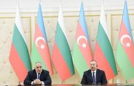"Azerbaijani president, Bulgarian PM make press statements <span class=""color_red"">[PHOTO]</span>"