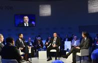 "President Aliyev attends ""Strategic Outlook: Eurasia"" interactive session as part of WEF <span class=""color_red"">[PHOTO]</span>"