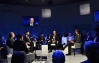 Ilham Aliyev informs on Azerbaijan's support for private sector at Davos Forum