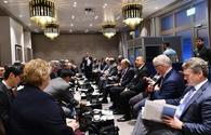 """President Ilham Aliyev attends oil and gas panel within forum in Davos <span class=""""color_red"""">[PHOTO]</span>"""