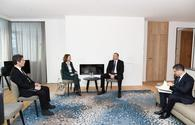 "Ilham Aliyev meets with Deputy CEO of SUEZ GROUP in Davos <span class=""color_red"">[PHOTO]</span>"