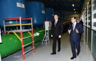 "President Aliyev inaugurates drinking water supply system in Mingachevir <span class=""color_red"">[UPDATE]</span>"