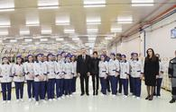 "President Aliyev and his spouse attend opening of yarn plants in Mingachevir <span class=""color_red"">[UPDATE]</span>"