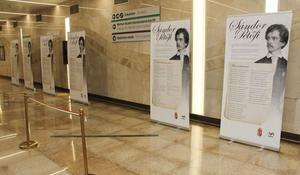"""Baku Metro exhibits works of Hungarian poet <span class=""""color_red"""">[PHOTO]</span>"""