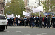 Armenian journalists hold protest action in Yerevan