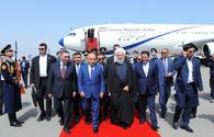 "Iran's Rouhani arrives in Azerbaijan <span class=""color_red"">[PHOTO]</span>"