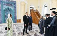 "President Ilham Aliyev, First Lady Mehriban Aliyeva attend opening of Haji Javad Mosque's new building <span class=""color_red"">[PHOTO]</span>"