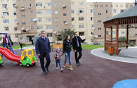 """Leyla Aliyeva attends opening ceremony of another redeveloped yard under """"Bizim həyət"""" project <span class=""""color_red"""">[PHOTO]</span>"""