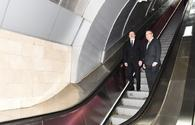 "President Aliyev observes Baku Metro's new cars <span class=""color_red"">[PHOTO]</span>"