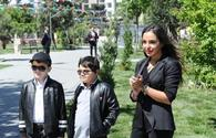 "Heydar Aliyev Foundation VP Leyla Aliyeva attends opening of yard redeveloped under ""Bizim heyet"" project <span class=""color_red"">[PHOTO]</span>"