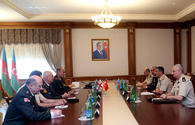 "Minister Hasanov meets heads of military educational institutions of Azerbaijan, Turkey, Georgia <span class=""color_red"">[PHOTO]</span>"