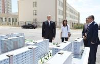 "President Aliyev, First Lady Mehriban Aliyeva attend opening of residential complex for IDPs <span class=""color_red"">[PHOTO]</span>"