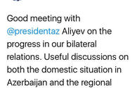 EU officials tweet about Ilham Aliyev's meeting with Donald Tusk in Brussels