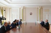 President Aliyev receives delegation led by Iranian minister of health and medical education