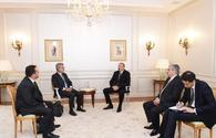 "Ilham Aliyev meets president of French SADE company <span class=""color_red"">[PHOTO]</span>"