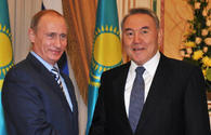 Putin, Nazarbayev discuss preparations for Caspian summit