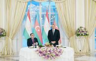 "Azerbaijani president hosts official reception in honor of Tajik counterpart <span class=""color_red"">[PHOTO]</span>"