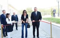 "President Ilham Aliyev, First Lady Mehriban Aliyeva attend opening of Meysari village secondary school in Shamakhi <span class=""color_red"">[PHOTO]</span>"