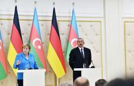 Germany can take part in all spheres of economy desired by Azerbaijan: Angela Merkel