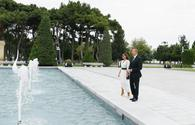 "President Ilham Aliyev, First Lady Mehriban Aliyeva attend opening of fountain complex in Baku <span class=""color_red"">[PHOTO]</span>"