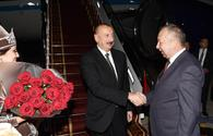 President Ilham Aliyev arrives in Kyrgyzstan for visit