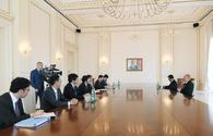 "President Ilham Aliyev receives delegation led by Japanese Foreign Minister Taro Kono <span class=""color_red"">[PHOTO]</span>"