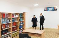 """President Aliyev views newly reconstructed school in Mashtagha <span class=""""color_red"""">[PHOTO]</span>"""