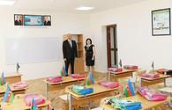 """Ilham Aliyev views conditions created at secondary school in Nardaran after overhaul <span class=""""color_red"""">[PHOTO]</span>"""